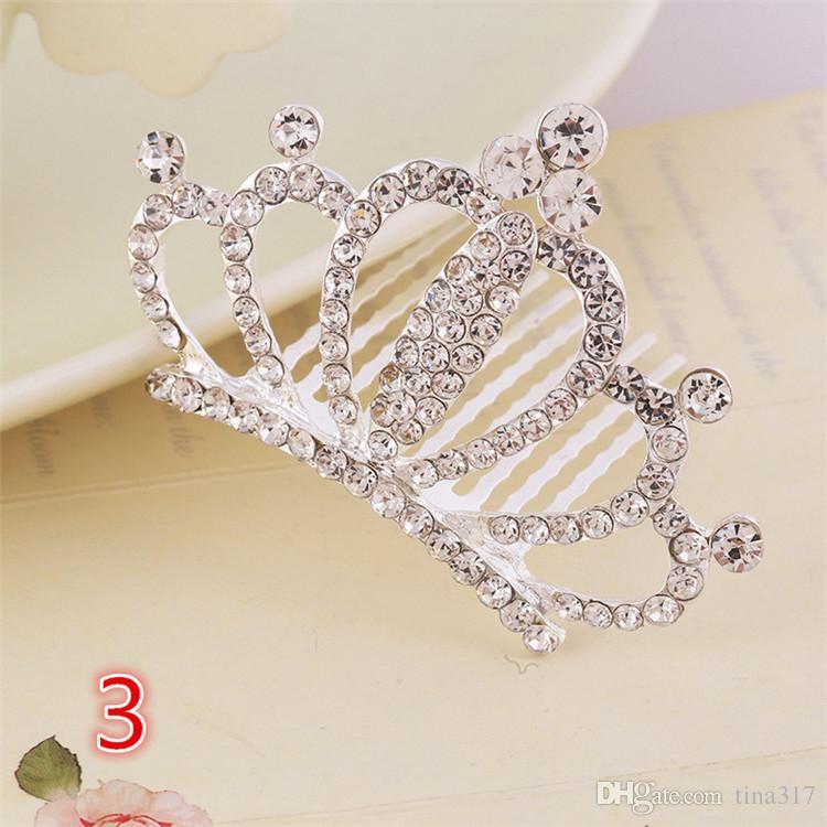 Оптом - Новые детские аксессуары для волос аксессуары для волос цвет горный хрусталь корона корона тиара корона дети шпилька тиара B0272
