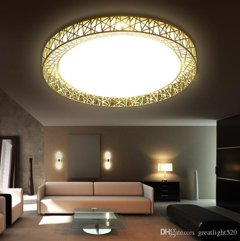 Modern LED teto Luzes Square e Nest Rodada Pingente levou luminarias para pingente de metal Praça luz # 11
