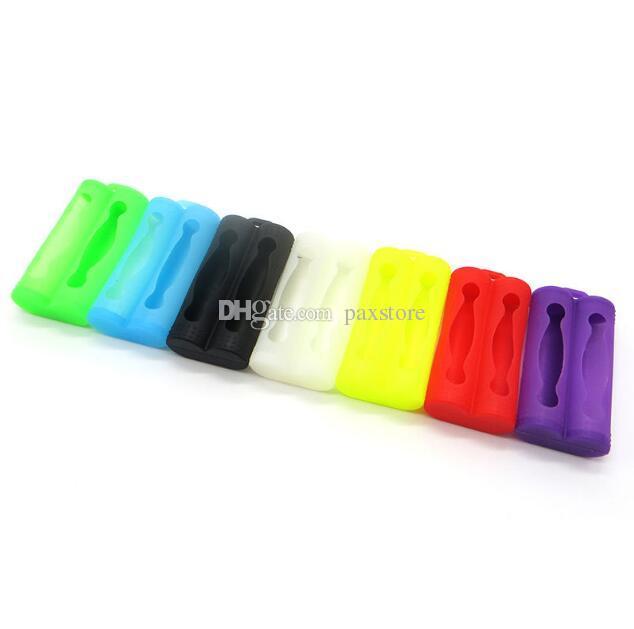 Neuestes 2 * 18650 Batterie-Silikon-Kasten-schützende Gummihülsen-Abdeckungs-doppelte Batterie 18650 enthalten Batterie-Kasten DHL geben frei