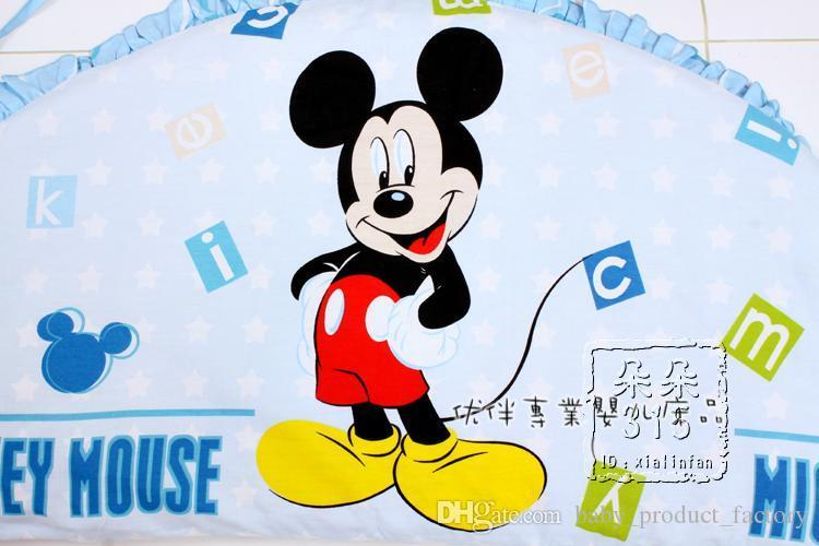 Promotion! Cartoon Baby crib bedding set 100% cotton bedclothes bed decoration bumpers+sheet+pillow cover