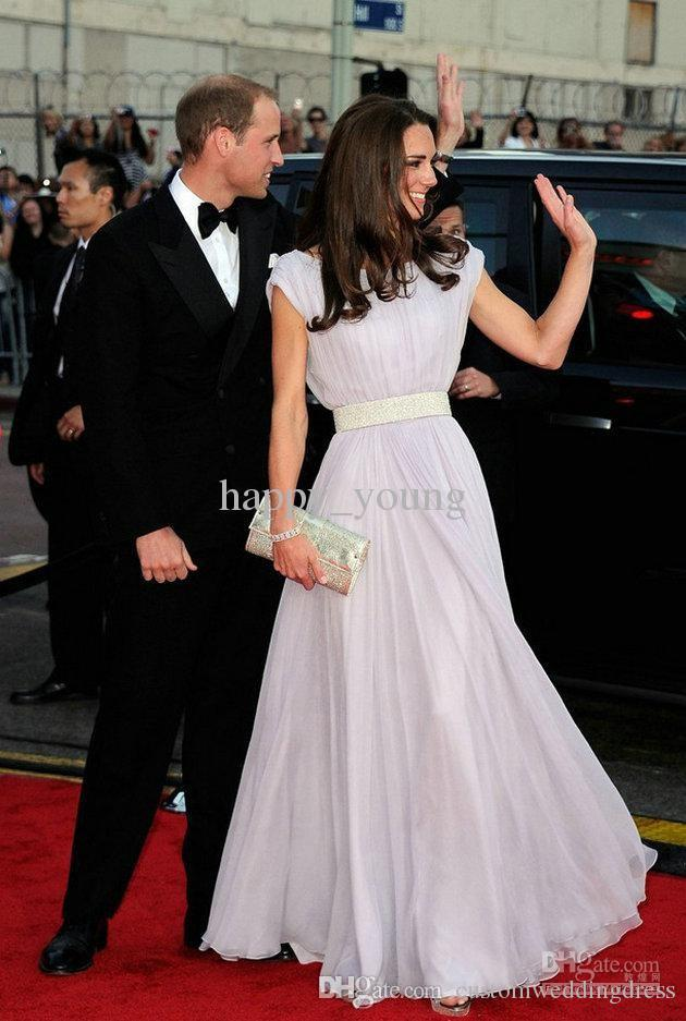 2018 maxi vestidos formales Floor Length Short Sleeve dress of Kate Middleton long sexy Gowns Celebrity Dresses