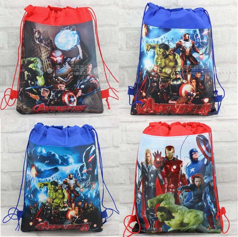 162157d30fd8 The Avengers Children School Bag Cartoon Kids Drawstring Backpacks for Boys  Children Swimming Bags Beach Hiking Travel Backpack Online with   50.29 Piece on ...
