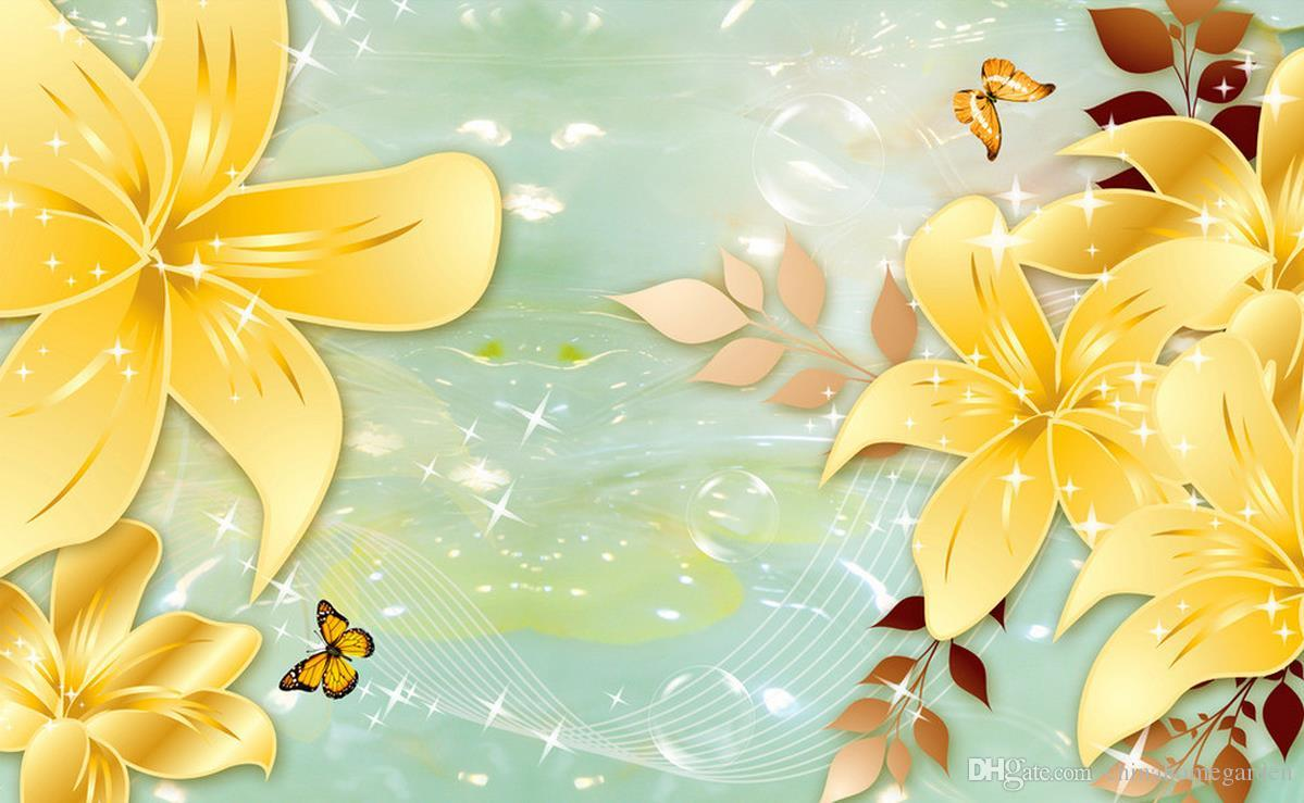 3d Murals Wallpaper For Living Room Golden Flower Jade Carving Background  Wall Murals 3d Wallpaper For Room High Quality Wallpapers Free Download  High