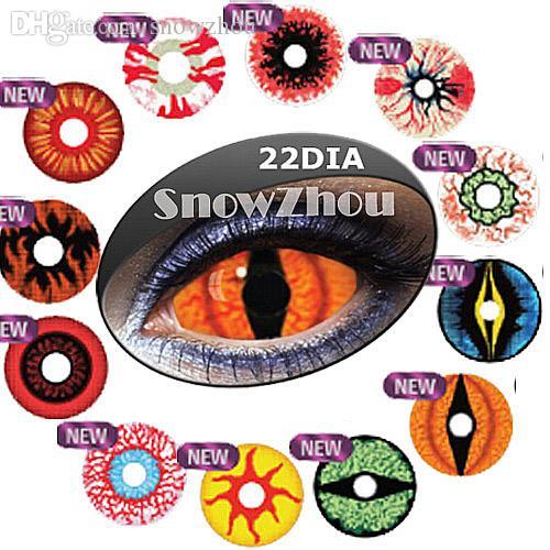 New FULL EYES HALLOWEEN Contact Lenses/22MM DIAMETER/bottle ...