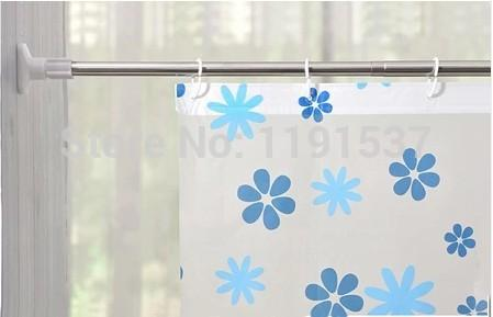 2017 68 120 cm shower curtain rod retractable pole punch rods