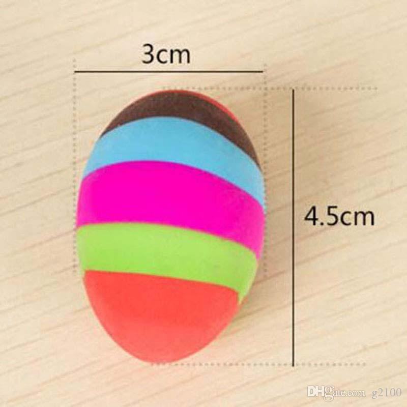 New Novelty Colorful Egg Shape Cartoon Rubber Eraser Cute Prize Gifts School Office Supplies Papelaria