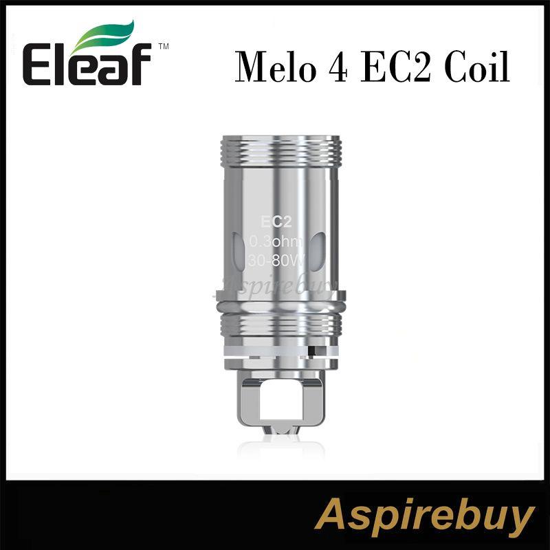 Eleaf MELO 4 EC2 bobine EC2 0.3ohm EC2 0,5 ohm sostituzione del tubo bobine di vetro Eleaf Melo 4 D22 D25 Serbatoio Eleaf iKuun Kit 100% originale