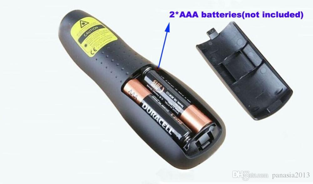 2016 Yeni Varış R400 2.4 GHz USB Mini kablosuz Lazer Pointer Presenter ile LED Kırmızı Lazer kalem perakende paketi ile PPT sunum lazer
