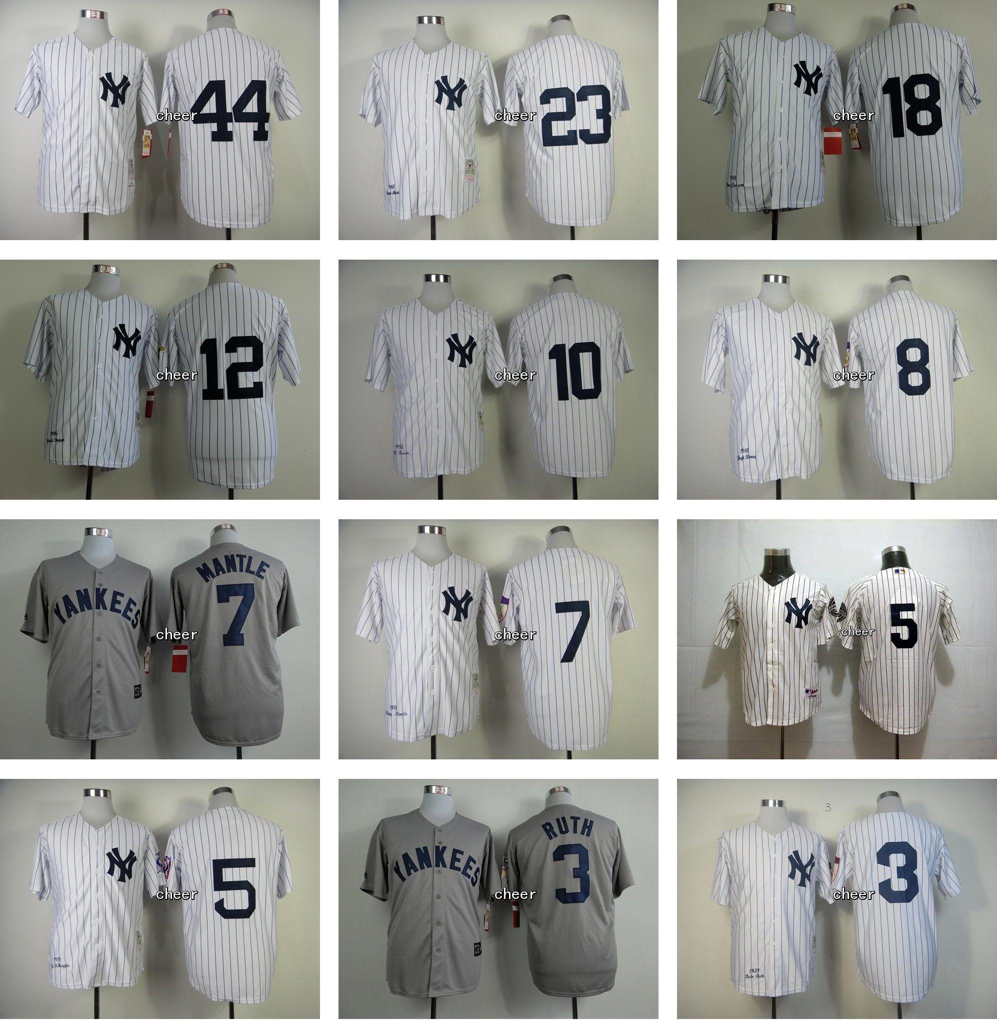 fae6f68be07 ... 2017 Mens Lady Kid New York Yankees Babe Ruth Yogi Berra 10 Phil  Rizzuto 23 Don .
