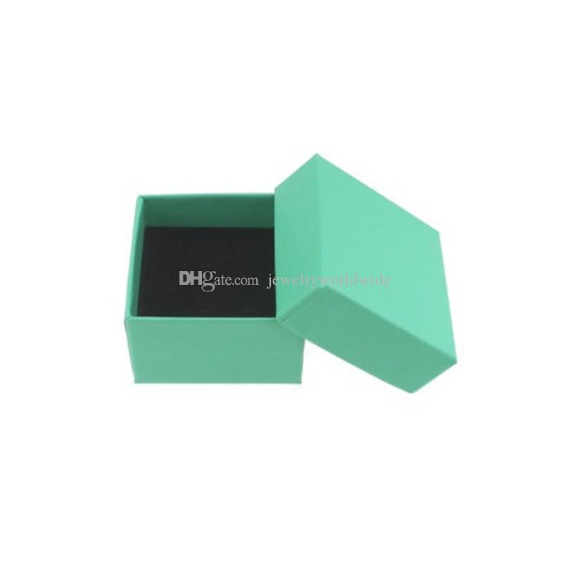 7 مربع مجوهرات لون مختلف في الغالب للأقراط تغليف المجوهرات الدائري وعرض 5X5X3CM نوعية كبيرة 002