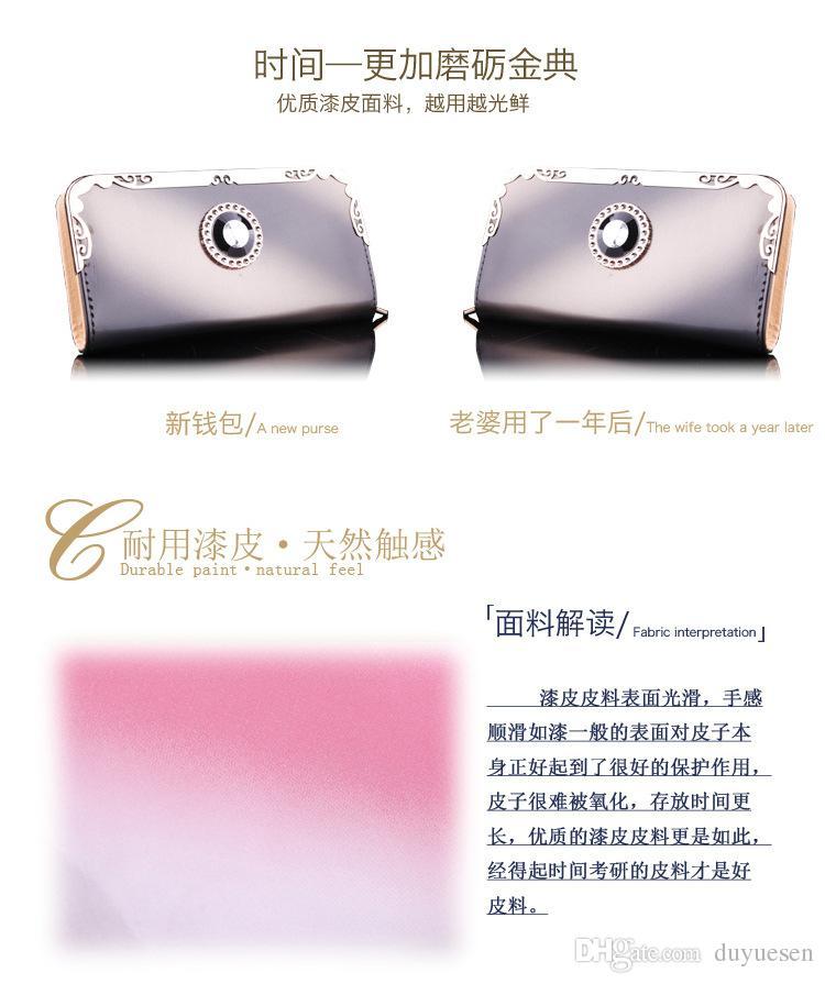 2016 The new Miss Han Ban fashion long wallet women handbag gradient ribbon drill bit multi-card hand bag