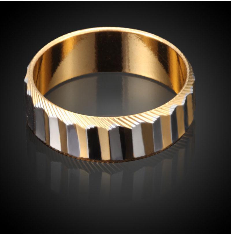 Anelli della vite di marca di modo amante anelli di barretta vuoti placcati 18K gli anelli di fidanzamento delle coppie Prezzo poco costoso
