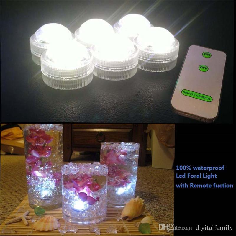 / décoration de mariage 3 LED RGB Télécommande Mini étanche LED submersible Party Lights avec batterie pour Halloween Party de Noël