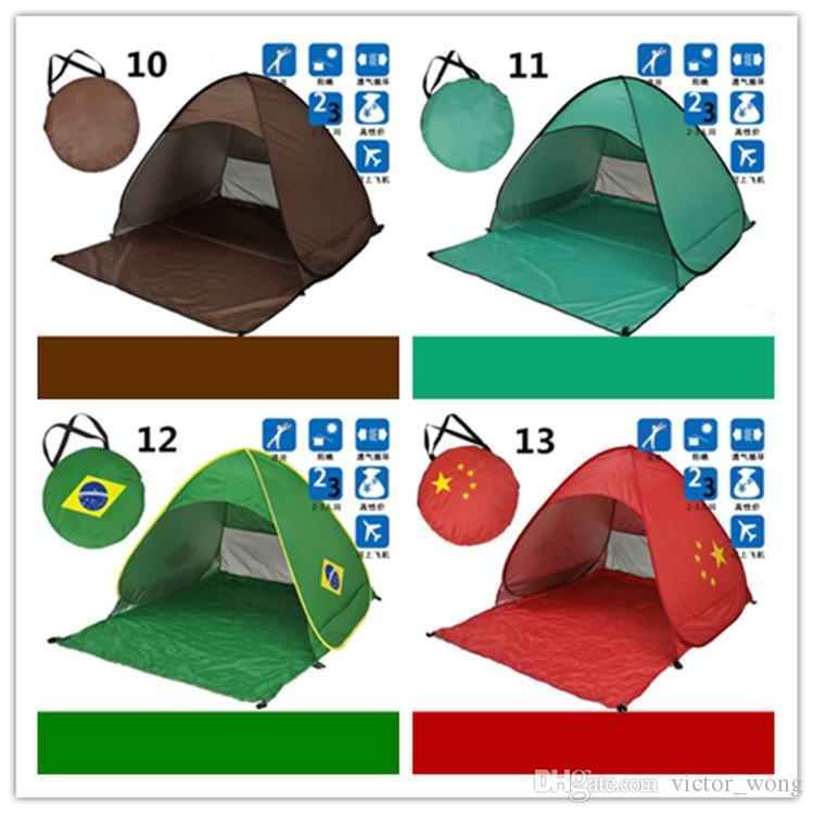 Tende Backpacking 13 Tende da campeggio all'aperto Tende da campeggio 2-3 persone Tenda di protezione UV diagonale Tipo di rinforzo 10 Pz Spedizione rapida DHL
