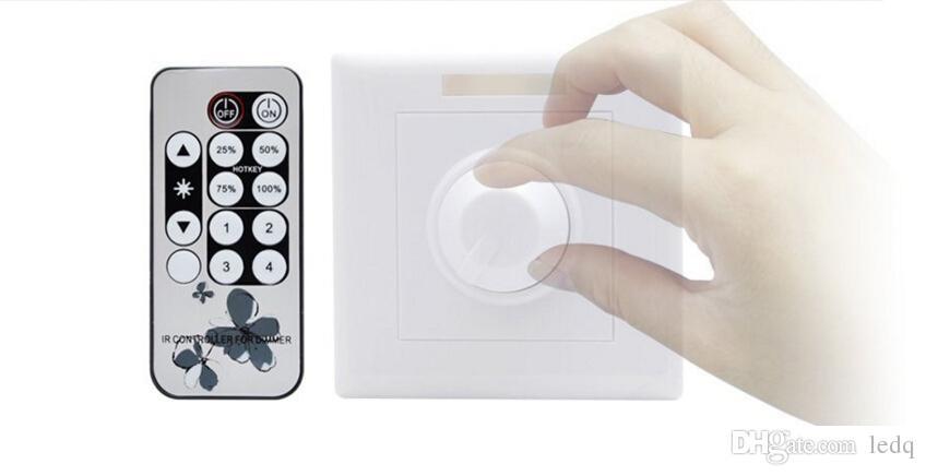 MOQ2 LED باهتة التبديل 220V 110V يعلق على الحائط يعتم قابل للتعديل سطوع تحكم مع بعيد ل LED مصباح إنارة مصباح