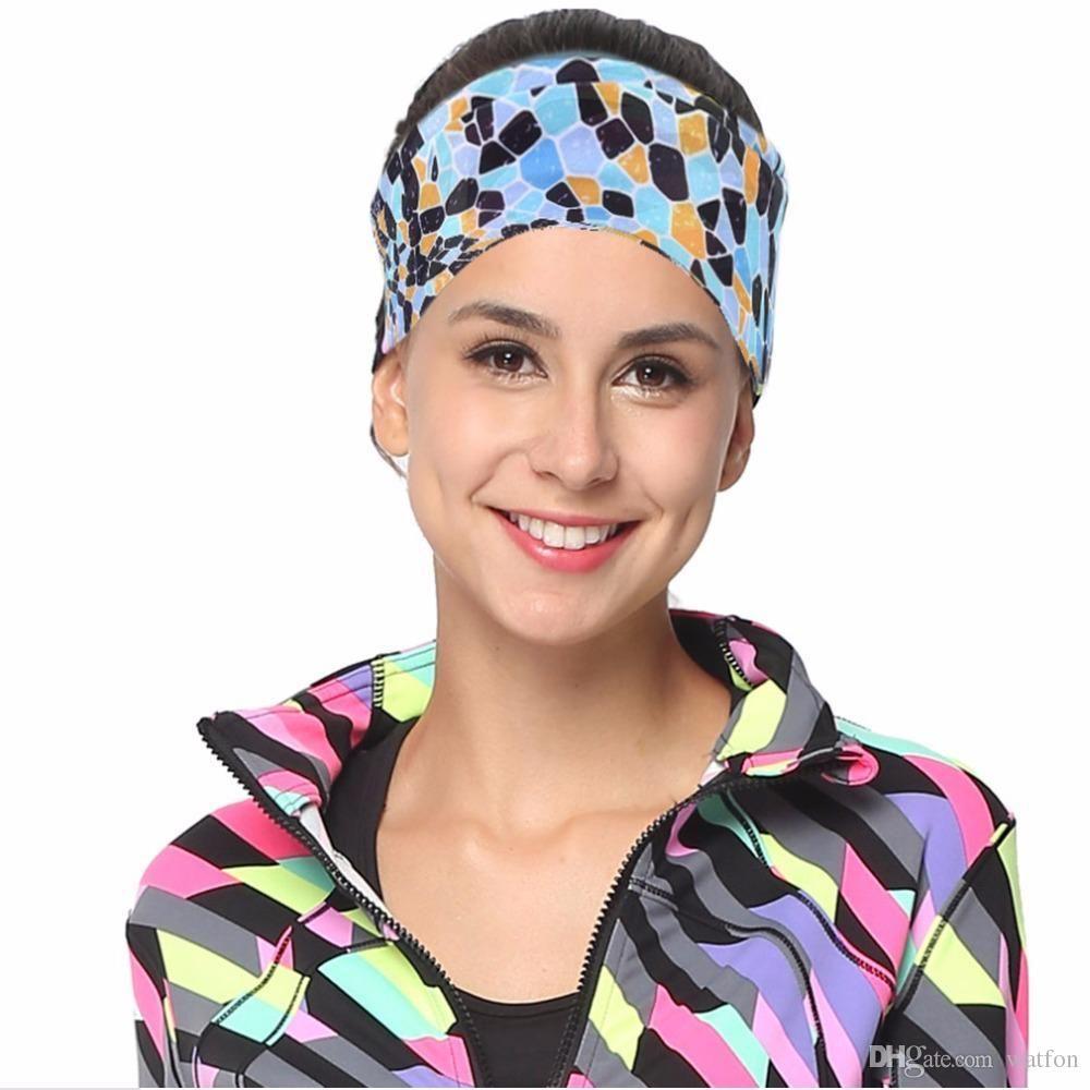 2019 Wholesale European Style Floral Printed Sweatband Men Women Outdoor  Running Yoga Sports Sweat Absorbing Headband From Bunner 3b5ef3ae76