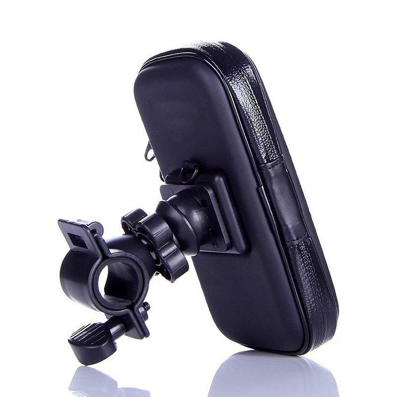 Motorcycle Phone Holder Support Mobile Moto Bicycle Stand for LG G6 Samsung S7 HTC Xiaomi 6 Universal Bike Holder Waterproof Bag