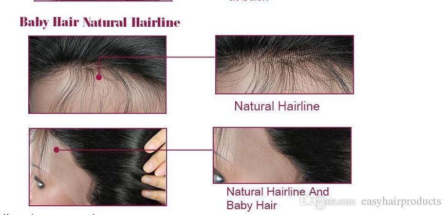Bob court perruques brésiliennes vierges de cheveux humains sans colle avant de lacet perruques vierges coupes de cheveux pas cher perruque ondulée G-EASY