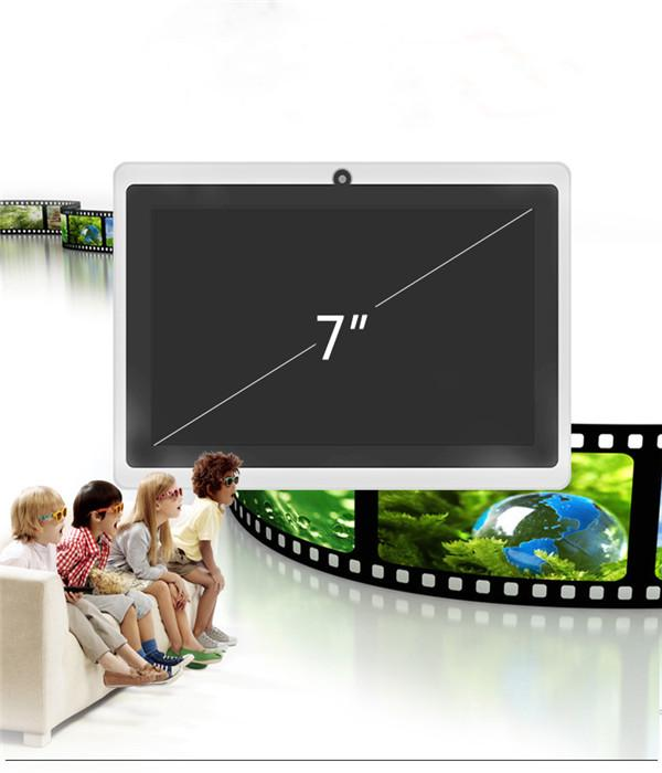 Tablet PC A33 Q88 Quad core 7 pulgadas Allwinner Tablet PC Android 4.4 Cámara doble 4GB 512MB Pantalla capacitiva WIFI MID DHL GRATUITA tableta android