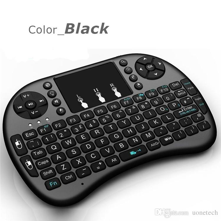 Air Mouse Combo 2.4G Mini Teclado Sem Fio i8, Touchpad combo com interface de adaptador para PC Pad Google Caixa de TV Andriod Xbox360 PS3 OTG