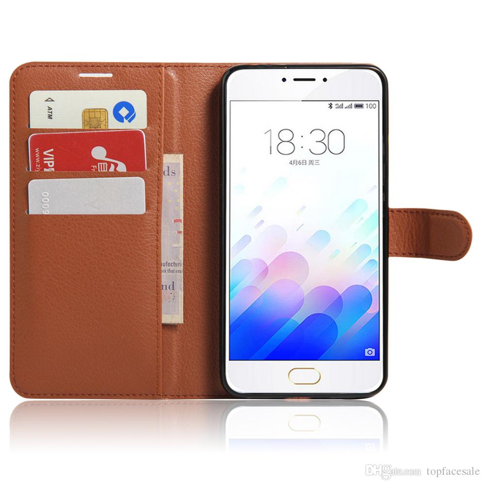 Diforate nueva llegada de cuero de lujo billetera de teléfono cubierta de la funda de la bolsa para Meizu M3 Note / azul encanto Note3