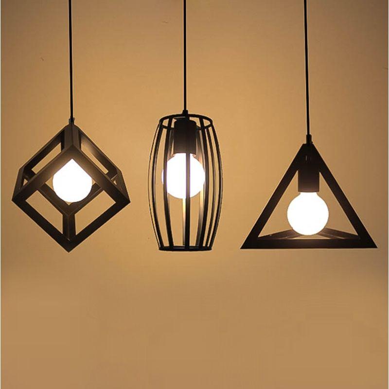 Loft Vintage Led Pendant Lights Industrial Lighting Cafe Bar Bedroom ...