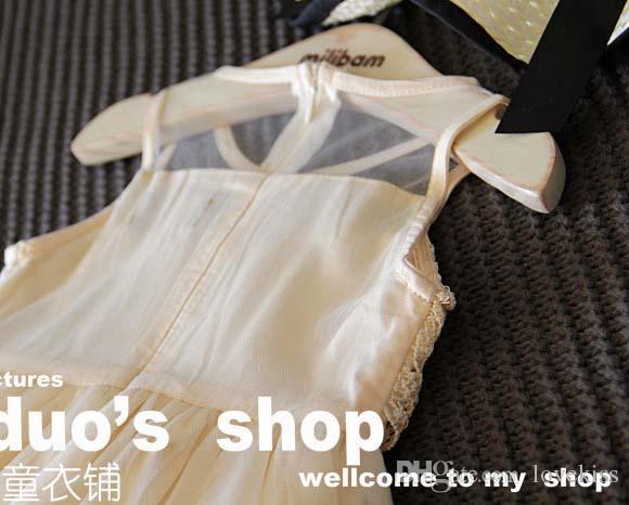 프릴 얇은 명주 그물 드레스 아이 레이스 소녀의 드레스 여름 공주 어린이 옷 아이 의류 C24983