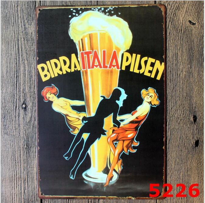 Beer Coffee Tavern Vintage Metal Sign Tin Poster Pub Bar Cafe Shop Decoration Retro Sign Tin Poster Beer Worldwide Tavern