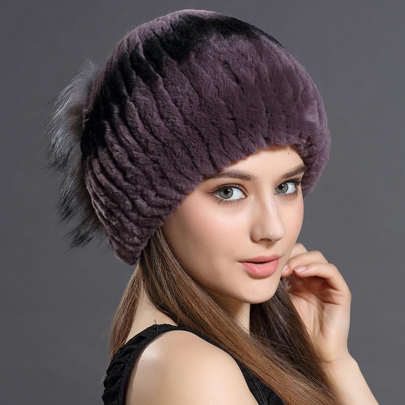 4da11950cf9 Women Hats Rabbit Fur Fox Fur Plus Side Seam Stripe Pattern Capelin Hat Cap  Headgear Headdress Various Fashion New Women Hats Beany Wholesale Hats From  ...
