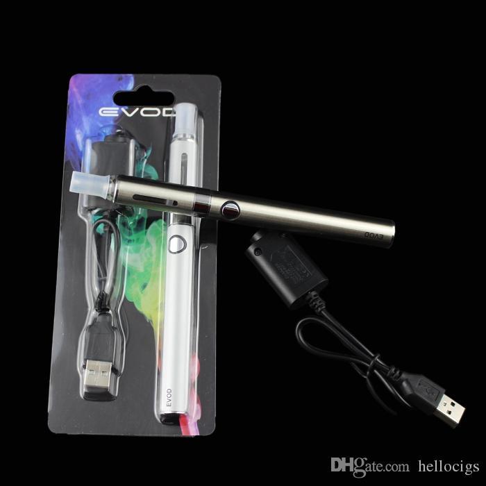 EVOD MT3 블리스 터 키트 단일 키트 eGo 스타터 키트 및 cigs 담배 650mah 900mah 1100mah EVOD 배터리 MT3 분무기