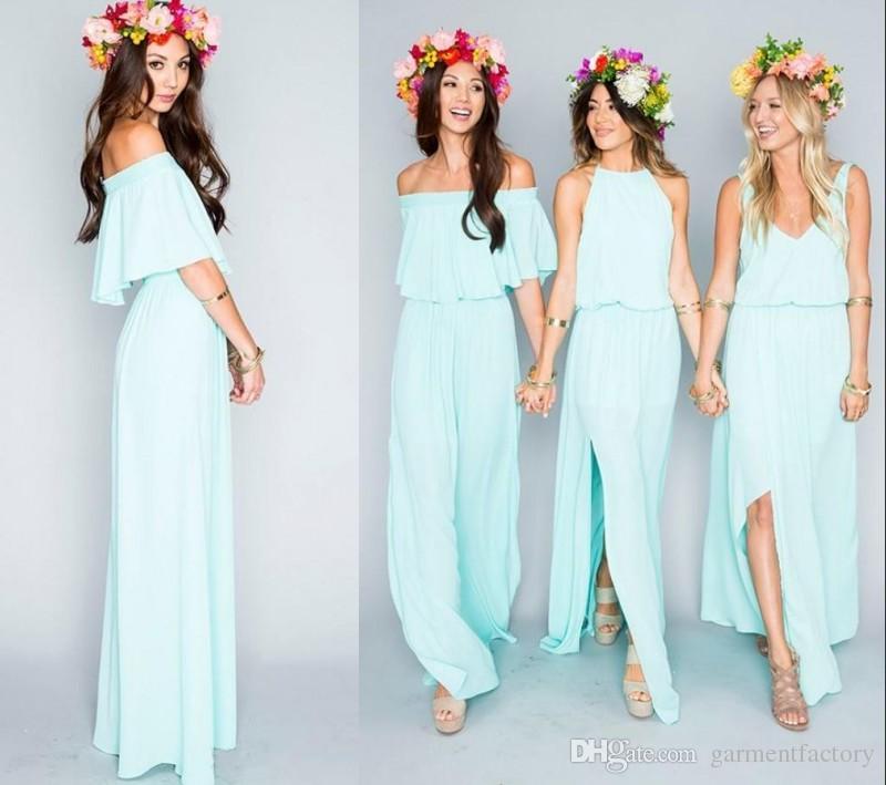 2016 New Fashion Bohemian Bridesmaid Dresses Long Three