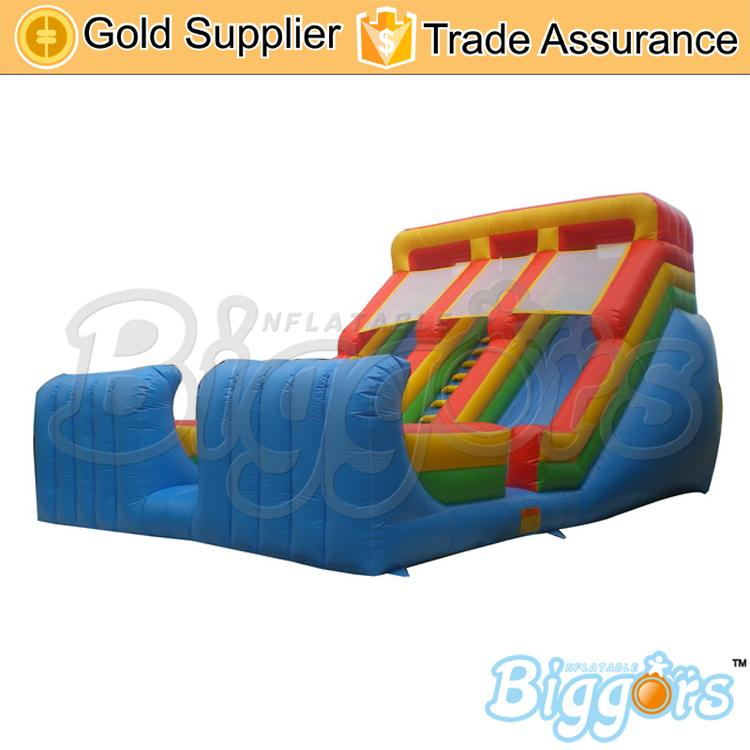 Adults Size Jumping Double Slide Game Durable Inflatable Material Slides For Fun
