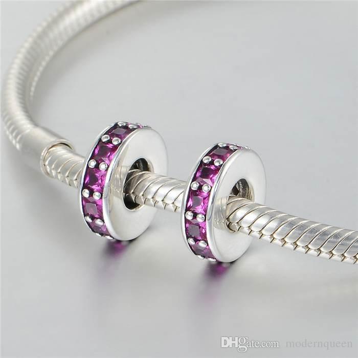 Branelli di charms sterling spacer Authentic S925 Silver adatti bracciale e collana di bracciale in stile marchio originale