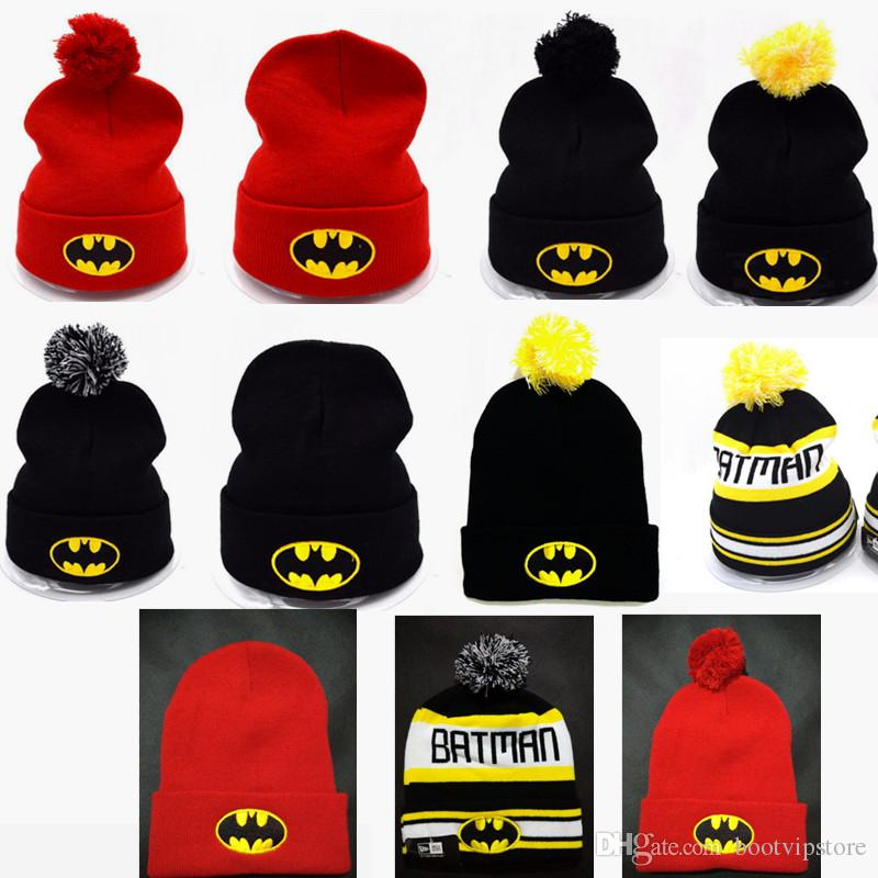 New Hip-Hop Bat man Beanies Knitting Wool Cap Wool Bboy Ski Unisex warm Winter Fashion Cute Hats
