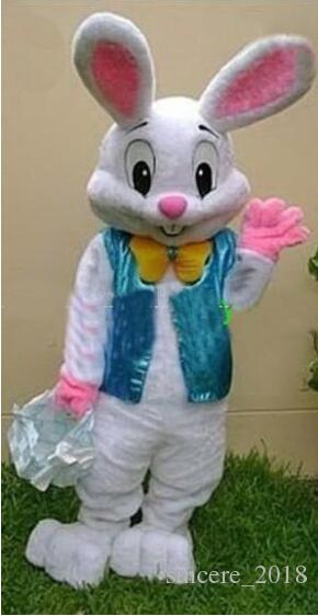 Professional Easter Bunny Mascot Costume Bugs Rabbit Hare Adult