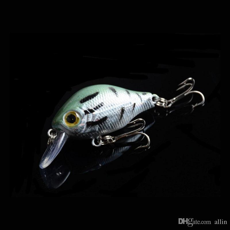 الأسماك البلاستيكية إغراء باس crankbait كرنك الطعم معالجة 3d العين الصيد السحر مقابل كيس التعبئة 8.4 جرام / 5.5 سنتيمتر