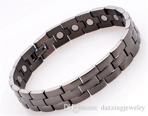 DFJ019 Best quality from china 316L stainless steel men's health magnetic energy bracelets 4 in 1 inlay factory wholesale