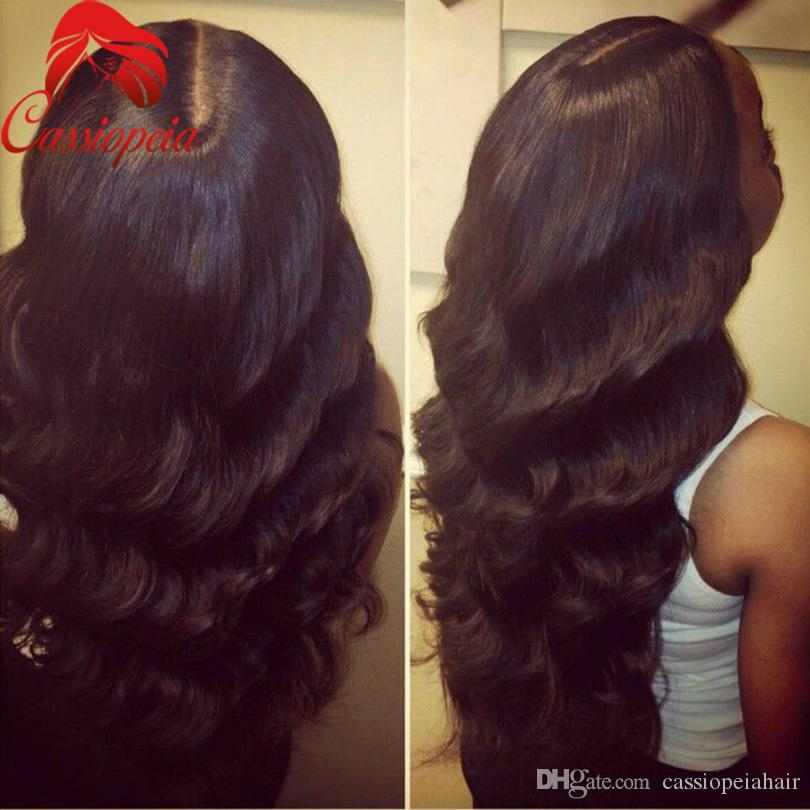 100% Unprocessed Virgin Hair Body Wave Front Lace Wigs with Baby Hair Glueless Brazilian Full Lace Human Hair Wigs For Black Women