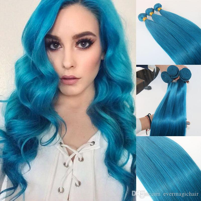 Human hair extensions sky blue human hair weaves brazilian see larger image pmusecretfo Image collections