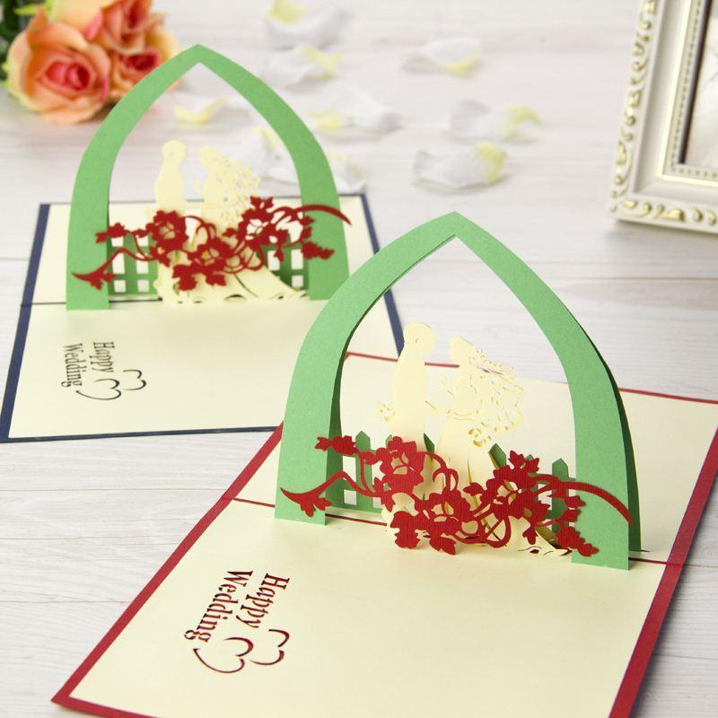 nice new 3d handmade card greeting cards happy wedding handmade creative kirigami origami 3d pop up gift greeting cards with lover des birthday cards