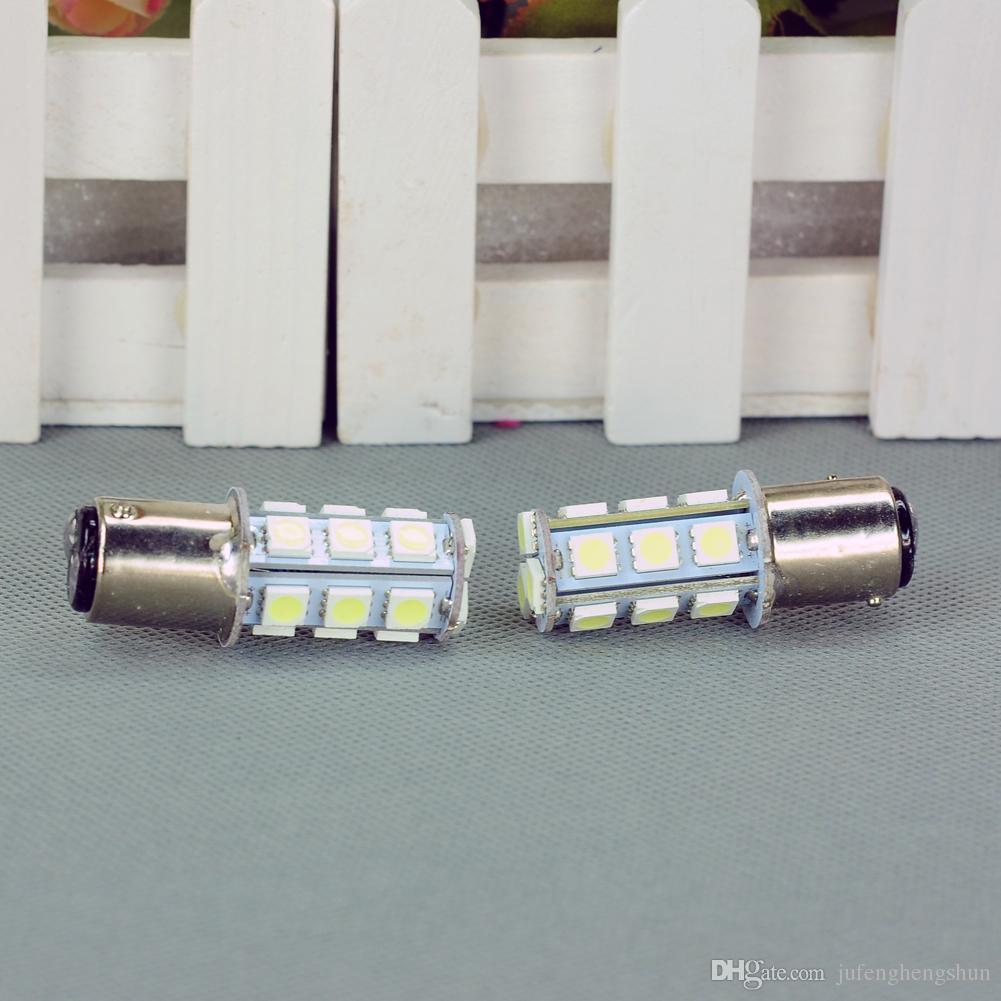 LED Car Light Bulb T25 S25 1157 BA15S 18 SMD 12V White LED Bulb Dome Tail Stop Parking Gauge Light Universal LED Lamp