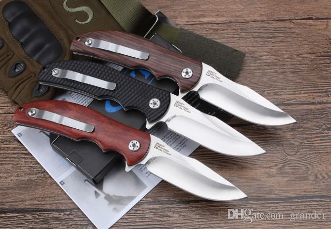 OEM ZT0606 knife Bearing Flipper Folding knife 9CR18Mov blade Outdoor Hunting multi-function tools With Hand-made Surface