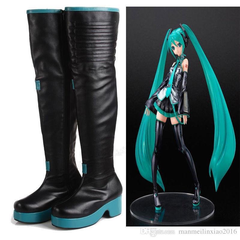 NOVA Anime Japonês COS Handmade Vocaloid Hatsune Miku Cosplay Botas Sapatos Personalizados de Alta Qualidade do Dia Das Bruxas Handcrafted