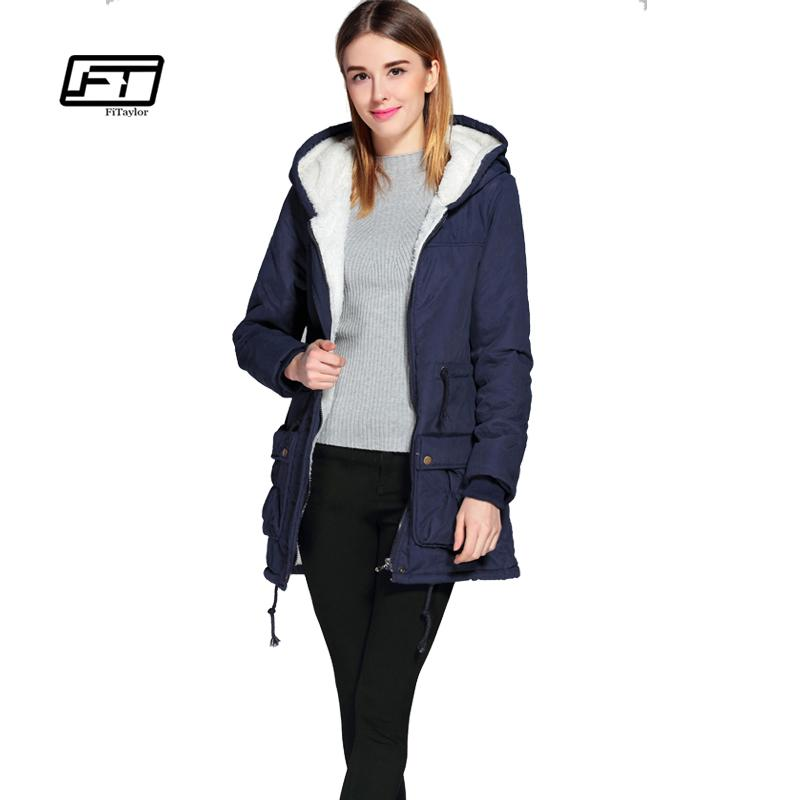 7dc1dadd75b 2019 X201711 New Winter Padded Coats Women Cotton Wadded Jacket Medium Long  Parka Thick Warm Plus Size Hooded Quilt Snow Outwear Abrigos From Huang01