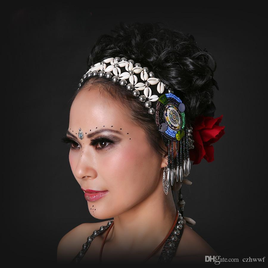 9af414d83fd 2019 2017 ATS Tribal Belly Dance Accessories Women Headpieces Dance  Headbands Bellydance Tassel Gypsy Dance Tribal Headband From Czhwwf