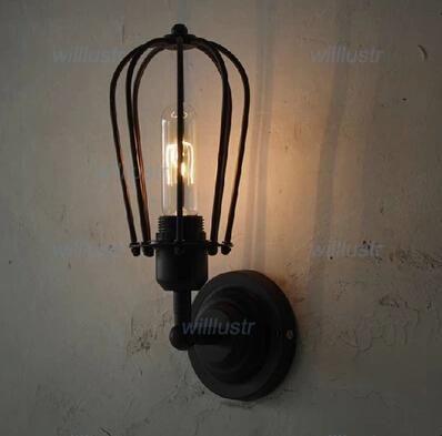 aplique de pared de metal RH loft pomelo pared LÁMPARA caja de metal luz de la pared lámpara de estilo de la industria restaurante café bar vanidad luz comedor
