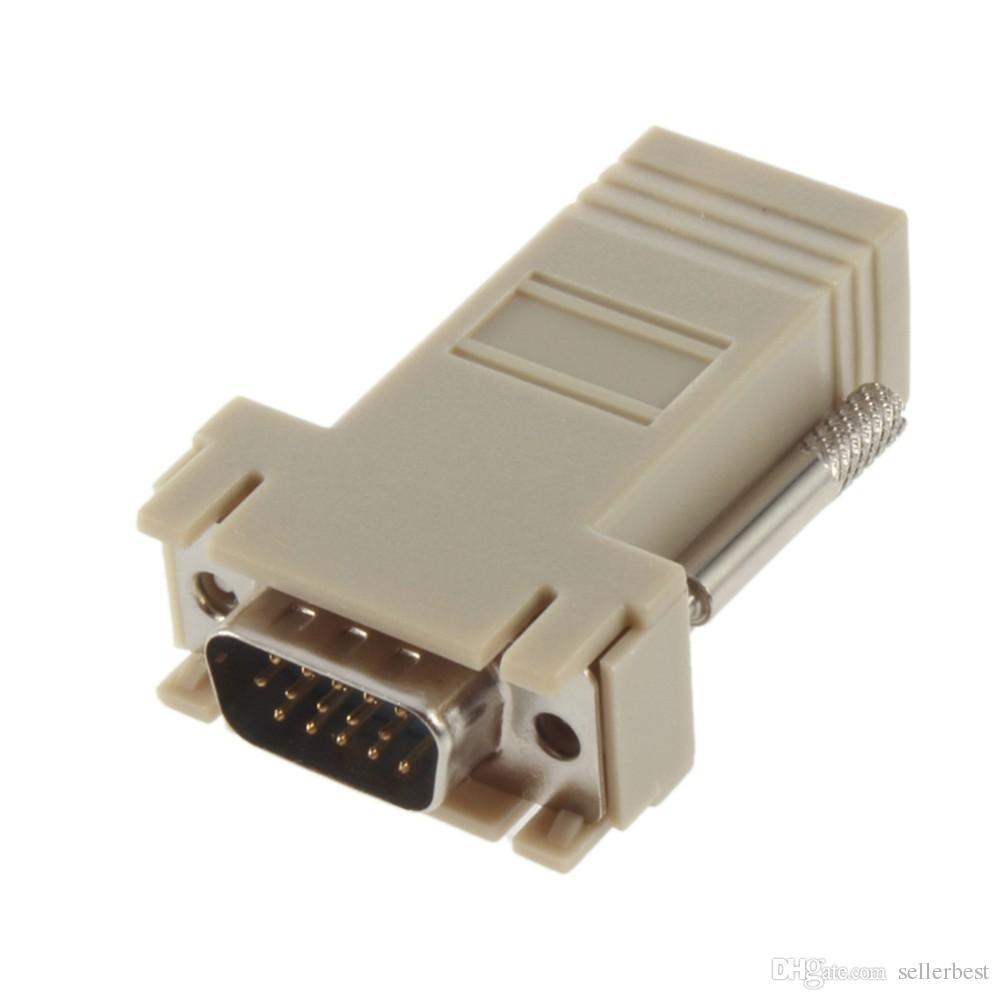 네트워크 케이블 어댑터 VGA D-SUB DB9 익스텐더 남성 LAN CAT5 CAT5e CAT6 RJ45 여성