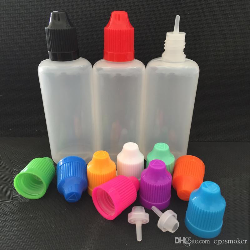 PET 50ml Tropfflasche Plastikflasche-kindersichere Kappe, 50ml PE e-flüssige Flasche 50ml Tropfflasche PE flüssige Plastikflasche elektronische Cig