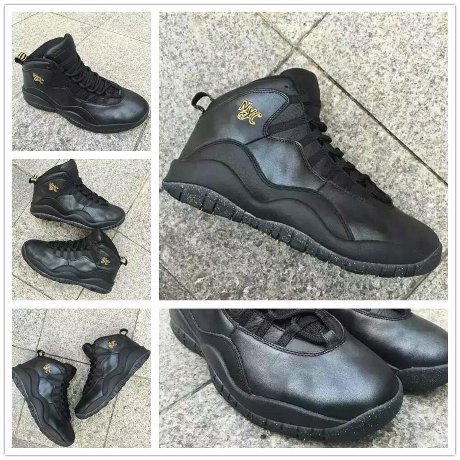 0af351f3475db7 Air Jordan 10 NYC 2016 On Feet - YouTube. Retro 10 Nyc Black 2016 Men  Basketball Shoes Sneakers Inside Air Cushion Sole Carbon Fiber Original