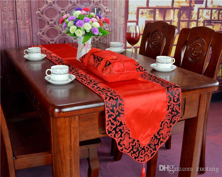 8cd5097bb High End Patchwork Silk Brocade Table Runner Rectangle Chinese Style Luxury  Tea Table Cloth Dining Table Protection Pads Home Decor 200x33 Braided  Table ...